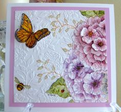 Embossed Paper, Embossed Cards, Making Greeting Cards, Greeting Cards Handmade, Napkin Cards, Paper Quilling For Beginners, Beautiful Birthday Cards, Sunflower Cards, Paper Quilling Designs