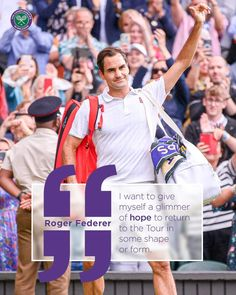 Knee Surgery, Roger Federer, Wimbledon, Give It To Me, Baseball Cards, Sports, Tennis, Instagram, Action