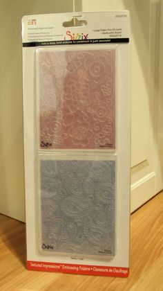 Brand New Sizzix embossing folders Paisley by BehindTheMemories, $8.00