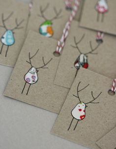 "Christmas Gift Tags - Reinbirds Mom you could totally make these "" only cuter"" LOL"