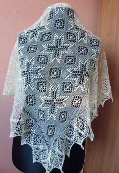 Beautiful knitted shawl
