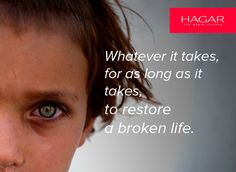 Hagar International's mission. #thewholejourney