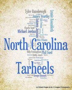 North Carolina Tarheels Greatest Basketball Players by no9images