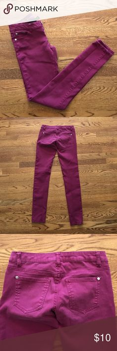 Maroon Skinny Jeans Maroon color, super soft and stretchy Jeans