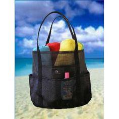 Mesh Family Beach Tote - Black Whale Bag w Black Carabiner Hook by Saltwater Canvas Baby Beach Gear, Beach Bum, Beach Trip, Beach Stores, Beach Items, 54 Kg, Sand And Water, Beach Tote Bags, Travel Tote