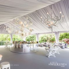 Really, could there be a more perfect venue? Beautiful round bar, white draping and chandeliers. Wedding Locations, Wedding Themes, Wedding Events, Wedding Decorations, Hotel Wedding, Wedding Bells, Wedding Reception, Wedding Ideas, Weddings