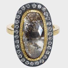 trdr716-12-oval4 | 18ky gold, silver, rose cut diamond(5.02ctw),brilliants(.36ctw)