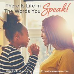 How can you speak life to your family and choose words of wisdom as a P31 woman? Use these Christian living tips to help you honor God with your words and bless your family with kindness as a woman who loves God.    Angelica Duncan Virtuous Woman Quotes, Proverbs 31 Virtuous Woman, Proverbs 31 Scripture, Proverbs 31 Wife, Bible, Life Proverbs, Devotional Journal, Jesus Girl, Speak Life