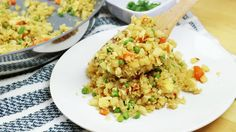 "10-Minute Healthy Cauliflower Fried ""Rice"" - http://m.forkly.com/recipes/10-minute-healthy-cauliflower-fried-rice/"
