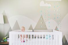 Boy baby nursery inspiration - try baby-safe, non-toxic Lullaby Paints in various shades of Flax to replicate this look!