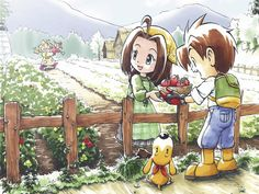 one of my favorite pictures (: <3 been around since like internet xD Harvest Moon A Wonderful Life..