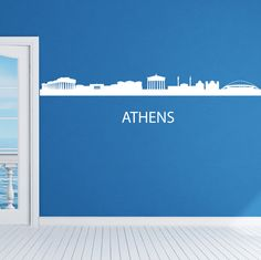 Athens Skyline Wall Sticker. Are you in love with the ancient city of Athens with its imperial and old power reputation? Then this wall decal is perfect to showcase that love through a perfect rendition of Athens skyline showing outlines of major attractions including Parthenon. http://walliv.com/athens-skyline-wall-sticker-wall-art-decal