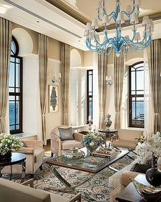 Beautiful...I would carry that shade of blue around the room more, Gorgeous!