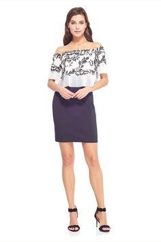Lina Off-The-Shoulder Dress. Handkerchief SkirtTadashi ShojiShoulder ... a9fa037f5