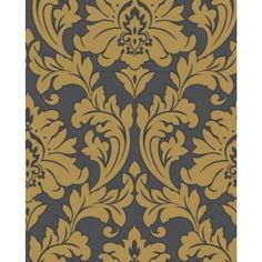 56 sq. ft. Majestic Yellow Wallpaper-30-438 at The Home Depot
