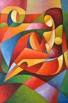 "Determine more details on ""modern abstract art geometric"". Look into our website. Cubist Art, Abstract Art, Arte Pop, Art Moderne, Pastel Art, African Art, Figurative Art, Art Lessons, Watercolor Art"
