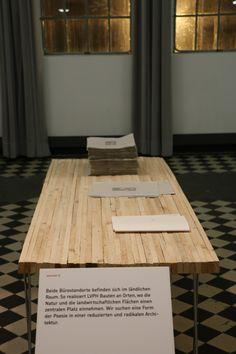 Arbeiten in Holz und Papier von LVPH architectes.