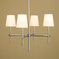 Soho Chandelier- 4 Finishes - 47x25 4x60 watt bulbs polished nickel or antique nickel, $559