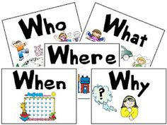 Visual cues to help answer questions.