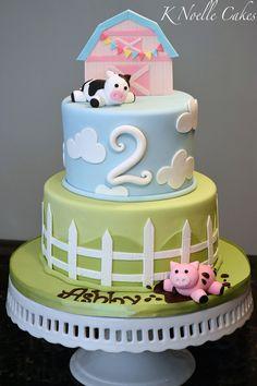 Farm theme cake By K Noelle Cakes