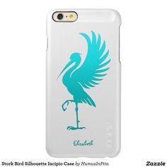 Stork Bird Silhouette Incipio Case Incipio Feather® Shine iPhone 6 Plus Case