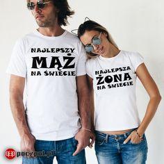 Najlepszy Mąż i najlepsza Żona  #mążiżona #mąż #żona #dlapar #para #miłość #poczpol #koszulka #koszulkaznapisem #tee #tshirtprinting #tshirts #tshirt #instalove #instacouple #tshirtdesign #streetwear #streetstyle #dlaniej #dlaniego #polishboy #polishgirl #walentynki #instaboy #instagirl #prezent You Look, Gifts For Him, Most Beautiful Pictures, Streetwear, Told You So, Basketball, Image, Tops, Design