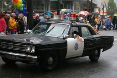 Old portland Police car