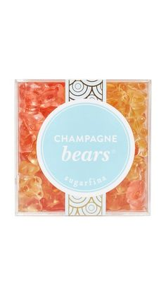 These Sugarfina gummy bears are made with Dom Pérignon Vintage Champagne, bringing sophistication to the nostalgic treat. These bears feature flavors of classic Brut and fashionable Rosé. Non-alcoholic. Packaged in a transparent cube. 12.6oz (360g).