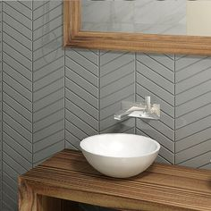 Chevron #tiles In Soft Shades Of Grey For Those That Loves #modern Spaces.