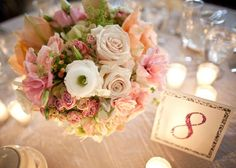 Blush pink floral centerpiece  Click here for more wedding inspiration >>> http://pinterest.com/luxenw/boards/