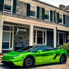 Chrome Green Lamborghini Gallardo