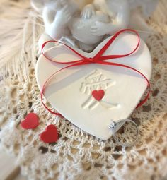 """New Oriental Chinese """"Ai"""" Wedding Ring Bearer Bowl with Red hearts by CupidsAtelier.com"""
