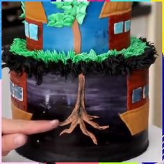 STRANGER THINGS upside down world cake! Credit: Rosie's Dessert Spot Cake Decorating Techniques, Cake Decorating Tips, Fancy Cakes, Cute Cakes, Frostig Rezept, Making Sweets, Frosty Recipe, Stranger Things Halloween, Dad Cake