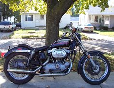 1974 XLCH Sporster. Bought one brand new in 74 from Jakes in Garden City, MI. 2,500 Cash.