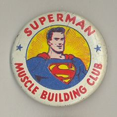 Superman Badge details count in mini displays Vintage Pins, Vintage Buttons, Superman Love, Batman, Button Art, Pin Button, Cool Buttons, Pinback Buttons, Pin And Patches