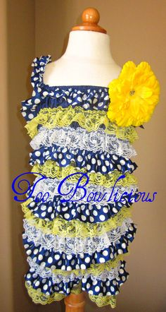 Custom design by TooBowlicious           Lace & Chiffon Petti- romper      Like us on Face BooK