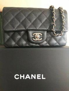 3d663b3c1f81 Details about Authentic Chanel Rectangular Leather Mini Classic Flap Bag