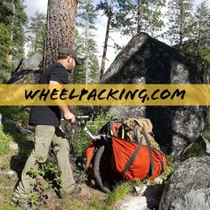 Honey Badger Wheel | Hiking Carts for Backpacking, Hunting, and Bug Out Preppers