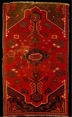 rugs images | Red Carpet with Animals and Tree of Life, Karapinar. Hali 56 Pg 116