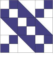 Jacob's Ladder Quilt Block Pattern