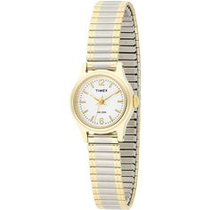 Timex Elevated Classics Dress Two-Tone Expansion Band Watch ($34) ❤ liked on Polyvore featuring jewelry, watches, 2 tone watches, timex watches, stainless steel wrist watch, timex and stainless steel jewellery