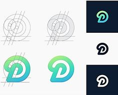 D 2 typography letter d monogram logotype symbol mark logo Typography Logo, Graphic Design Typography, Art Logo, Logo Branding, Web Design, Icon Design, Logo Inspiration, Brand Identity Design, Branding Design