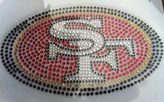 San Francisco 49ers Rhinestone Shirt by ArdensPrintingPlus on Etsy, $35.00
