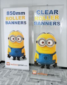 Roller Banner Clear and standard