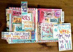 Scripture Art Journaling John  Bible Verse Art Tutorial Christian Art Art by Erin Leigh