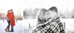 Engagement pictures in Toledo Ohio. Winter engagement session by wedding photographer JH Photography