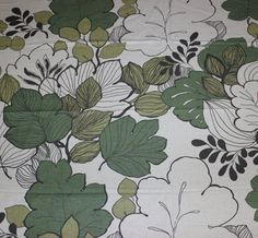 Lovely vintage retro off white Fabric with by TopNotchScandinavia