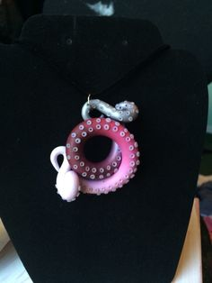 Silver pink and white octopus tentacle by LuckyFaux on Etsy