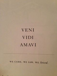 NO! it is I came/saw/loved not WE came/saw/loved