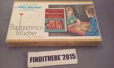 Vintage Backgammon Teacher by Cardinal w/ Guide Book 1979 #Cardinal